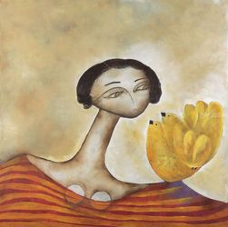 Las Benitas, Paintings, Abstract, Figurative, Acrylic, By Lucia Rohrmann