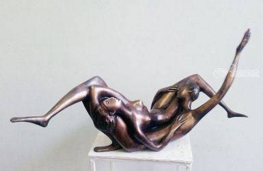 Later 2000yea bronze H 37X71X30cm  20000$, Paintings, Abstract, Erotic, Bronze, By ZAKIR AHMEDOV