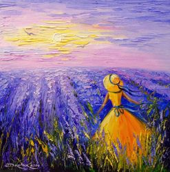 Lavender dreams, Paintings, Impressionism, Botanical,Fantasy,Landscape,Nature, Canvas,Oil,Painting, By Olha   Darchuk