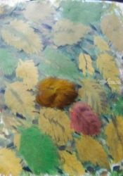 Leaves of Fall: Light Version., Paintings, Impressionism, Still Life, Watercolor, By Catherine Bayani