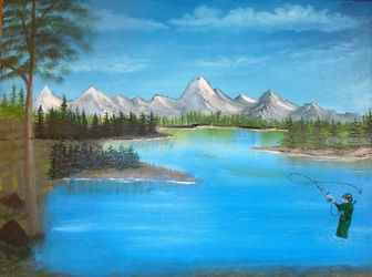 Life, Land Art,Paintings, Fine Art,Realism, Inspirational,Landscape, Canvas,Oil,Painting, By Lana Fultz