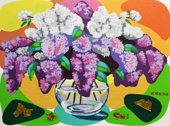 LILAC, Paintings, Realism, Floral, Mixed, By Zenon Rozycki