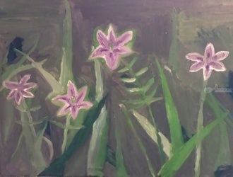 Lilies, Paintings, Impressionism, Botanical, Oil, By MD Meiser