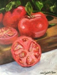 Love Apples, Paintings, Impressionism, Botanical, Acrylic, By Susan Elizabeth Jones