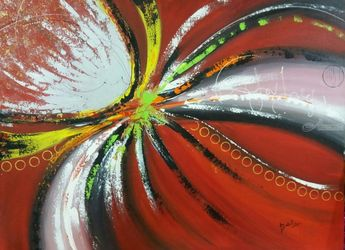 Love is in the air, Paintings, Abstract, Composition,Decorative, Acrylic, By Babita Maheswary