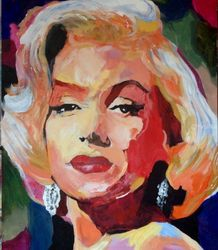 Love, Marilyn, Paintings, Impressionism, Portrait, Acrylic, By broonzy williams