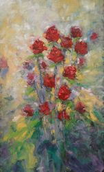 Made in Love, Paintings, Expressionism,Fine Art,Modernism, Botanical,Floral,Nature, Oil,Painting, By Emilia Milcheva