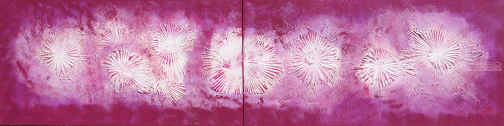 magenta abstract diptych A136<br>Abstract Painting vertical<br>wall art Acrylic Original<br>Contemporary Art for Lounge,<br>Office or above sofa by artist<br>Ksavera, Paintings, Abstract,Expressionism,Minimalism,Modernism, 3-D,Conceptual,Spiritual, Acrylic,Canvas,Mixed,Painting, By Ksavera Art
