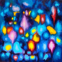 Magic lights, Paintings, Abstract, Fantasy, Canvas,Oil, By Ivan Klymenko
