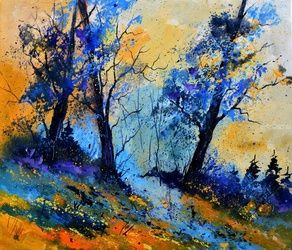 Magic wood, Architecture,Decorative Arts,Drawings / Sketch,Paintings, Impressionism, Landscape, Canvas, By Pol Ledent