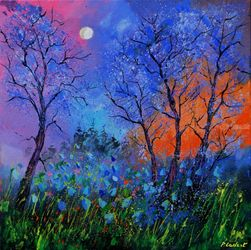 Magic wood 8881, Paintings, Impressionism, Landscape, Oil, By Pol Ledent