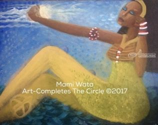 MAMI WATA, Paintings, Fine Art, Figurative, Acrylic, By Asta Yulfo