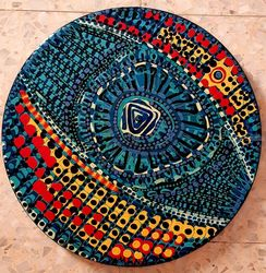 Mandala Israeli artist modern<br>paintings, Decorative Arts, Abstract, Decorative, Acrylic, By Mirit Ben-Nun