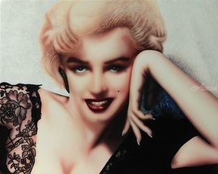 MARILYN, Paintings, Realism, Figurative,Portrait, Acrylic, By ADRIAN WRIGHT