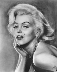 Marilyn Monroe, Drawings / Sketch, Realism, Figurative, Oil, By Stefan Pabst