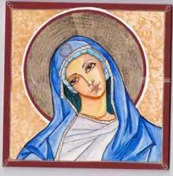 Mary-Icon, Paintings, Symbolism, Inspirational, Watercolor, By Rebecca Sakovitch