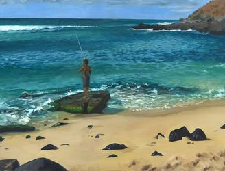 Maui, Paintings, Impressionism, Landscape, Oil, By Michael Connors