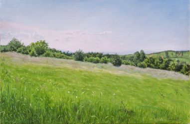 May, Paintings, Fine Art,Realism, Landscape,Nature, Canvas,Oil, By Dejan Trajkovic