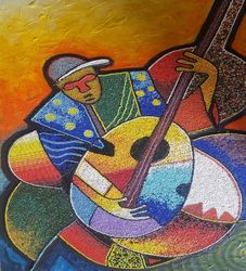 Melody Singer, Paintings, Abstract, People, Mixed, By Akeem Agbelekale