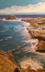 Memory Rocks, Paintings, Expressionism, Seascape, Mixed, By Robert Crawford