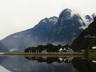 Milford Sound 26, Photography, Photorealism, Landscape, Canvas,Digital,Metal,Photography: Metal Print,Photography: Photographic Print,Photography: Premium Print,Photography: Stretched Canvas Print, By Ernest Wong