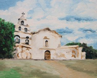 Mission San Diego, Architecture, Expressionism, Architecture, Oil, By Jane Adrianson