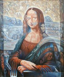 Mona Lisa without any smile, Paintings, Expressionism,Fine Art, Conceptual, Oil, By Ihor Khoynyak