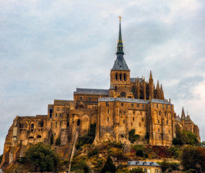 Mont Saint-Michel, Photography, Photorealism, Architecture,Cityscape,Religious, Photography: Premium Print, By Mike DeCesare