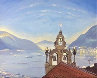 Montenegro.Tivat(acrylic on<br>canvas), Paintings, Fine Art, Landscape, Acrylic, By Victoria Trok