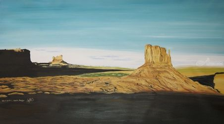 Monument Valley, Paintings, Realism, Landscape, Oil, By Claudia Luethi alias Abdelghafar