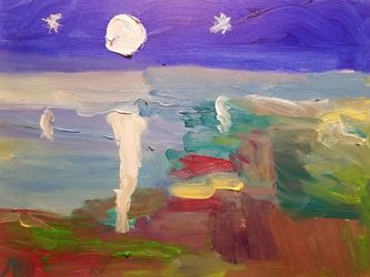 Moon, Paintings, Abstract,Impressionism, Landscape, Oil, By MD Meiser