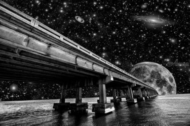 Moon Bridge, Photography, Surrealism, The Unconscious, Photography: Premium Print, By kevin cable