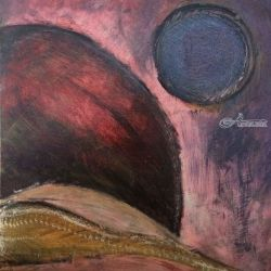 Moon Scape, Paintings, Abstract, Celestial / Space, Acrylic, By Kenneth Parker