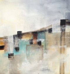 Moorland Pasture, Paintings, Abstract, Composition, Acrylic, By Petra Lea