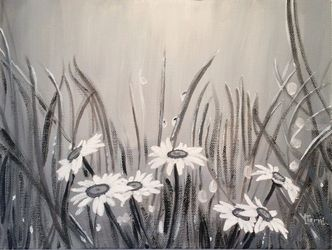 Morning Mist, Paintings, Modernism, Botanical, Acrylic, By Lucyanne Terni