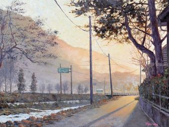 Morninglight at Namwon, Paintings, Impressionism, Landscape, Canvas,Oil, By Mason Kang