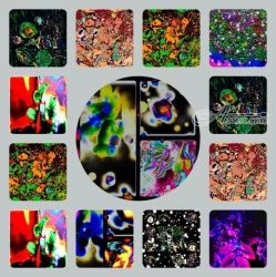 Mosaic Collage Art in Abstract<br>Form., Decorative Arts,Digital Art / Computer Art,Mosaic,Paintings,Printmaking, Abstract,Fine Art, Avant-Garde,Floral, Digital,Mixed,Painting,Pencil, By Catherine Bayani
