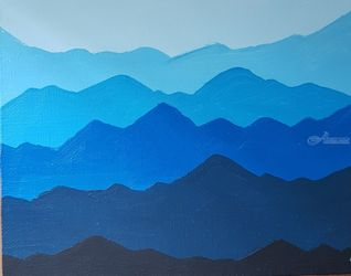 Mountains, Paintings, Abstract, Land Art,Landscape, Acrylic, By Natalya Sintsova
