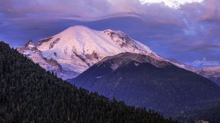 Mt. Rainier Sunrise, Photography, Photorealism, Landscape, Photography: Premium Print, By Mike DeCesare