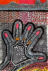 Mujeres judias en el arte de<br>la pintura desde Israel, Drawings / Sketch, Primitive, Decorative, Ink, By Mirit Ben-Nun