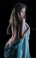 Musae Polyhymnia, Paintings, Expressionism,Fine Art,Modernism,Photorealism,Realism, Erotic,People,Portrait, Oil, By Ivan Pili