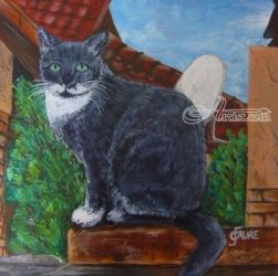 My Cat, Paintings, Expressionism, Animals, Acrylic, By Gerda Faure