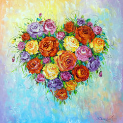 My heart blooms when you are<br>near an, Paintings, Expressionism,Fine Art,Impressionism, Analytical art,Floral, Canvas,Oil,Painting, By Olha   Darchuk
