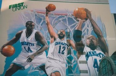NBA Hornets Mural Painting, Murals,Paintings, Fine Art,Realism, Figurative,People,Portrait, Oil,Painting, By James Cassel