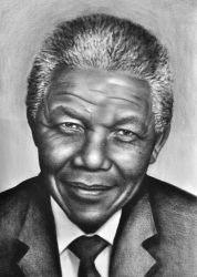 Nelson Mandela, Drawings / Sketch, Realism, Figurative, Oil, By Stefan Pabst