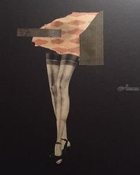 Nice Legs, Collage, Surrealism, People, Mixed, By Aryn Pond