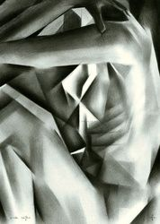Nude - 07-10-15, Drawings / Sketch, Abstract,Cubism,Fine Art,Impressionism,Realism,Surrealism, Anatomy,Composition,Erotic,Figurative,Inspirational,Nudes,People, Pencil, By Corne Akkers