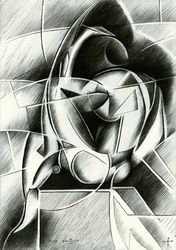 Nude - 14-04-15, Drawings / Sketch, Abstract,Cubism,Fine Art,Impressionism,Realism,Surrealism, Anatomy,Composition,Erotic,Figurative,Inspirational,Nudes,People, Pencil, By Corne Akkers