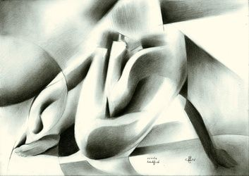 Nude - 25-01-16, Drawings / Sketch, Abstract,Cubism,Fine Art,Impressionism,Realism,Surrealism, Anatomy,Composition,Erotic,Figurative,Inspirational,Nudes,People, Pencil, By Corne Akkers