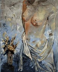 Nude 45411, Paintings, Impressionism, Decorative, Canvas, By Pol Ledent